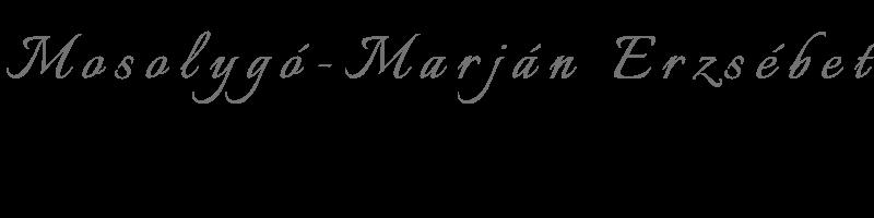 Mosolygó-Marján Erzsébet aláírás